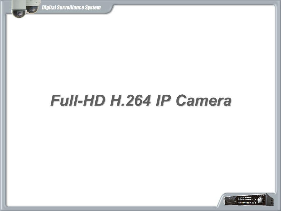 Full-HD H.264 IP Camera