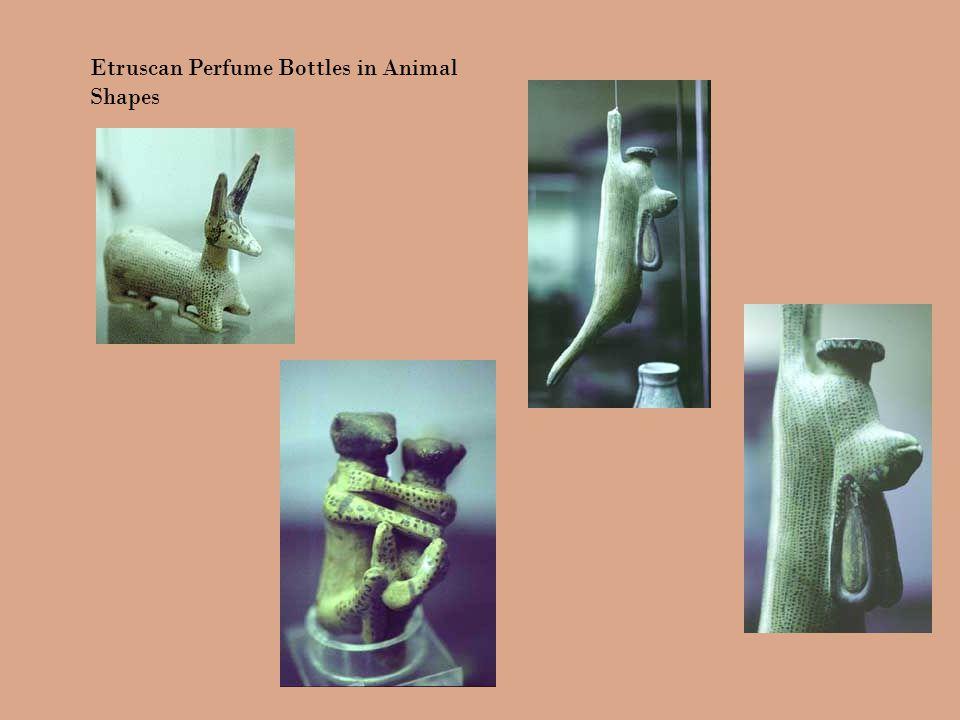 Etruscan Perfume Bottles in Animal Shapes