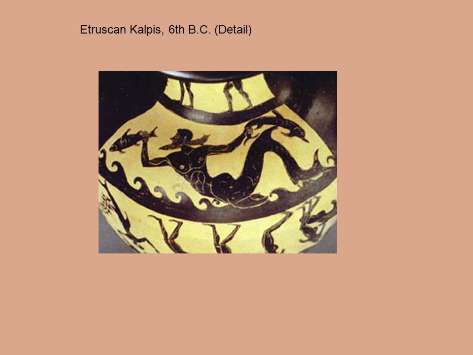 Etruscan Kalpis, 6th B.C. (Detail)