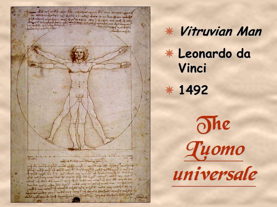 Vitruvian Man Leonardo da Vinci 1492 The L'uomo universale