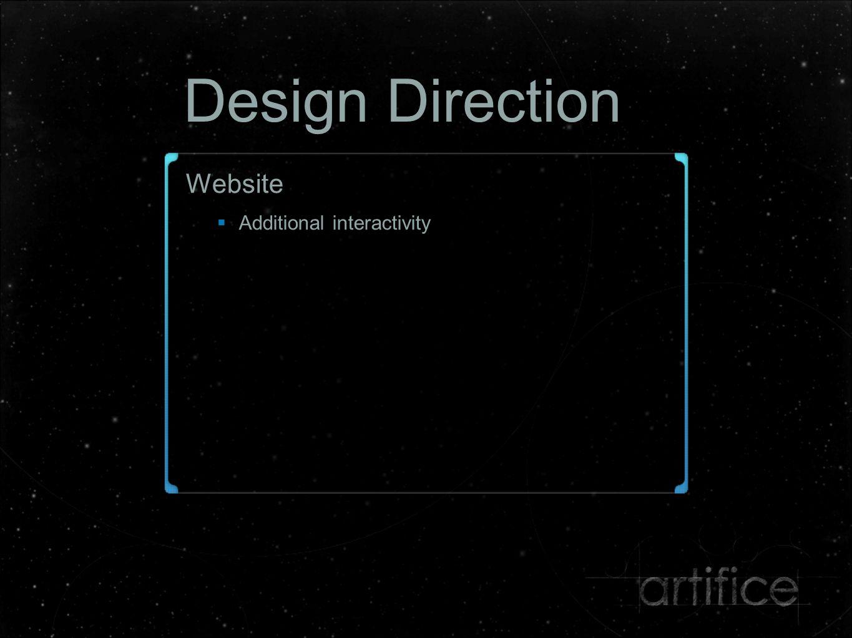 Design Direction Website  Additional interactivity