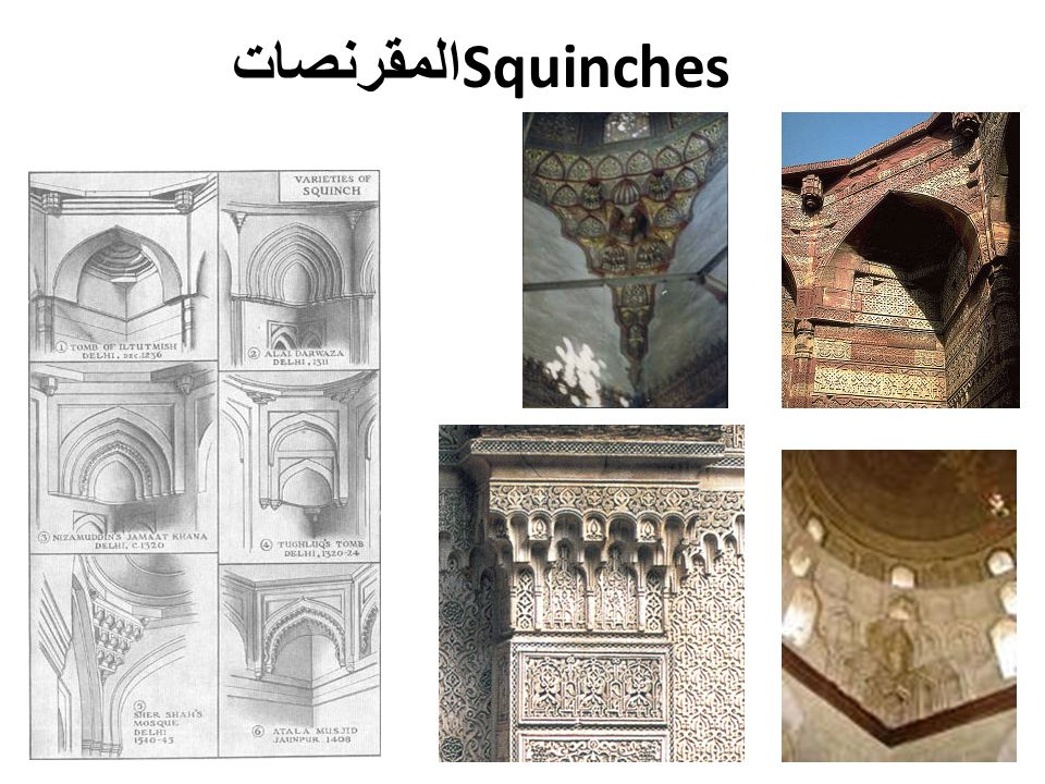 المقرنصات Squinches
