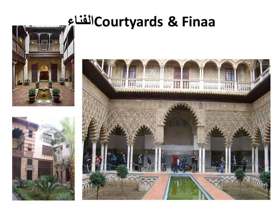 الفناء Courtyards & Finaa