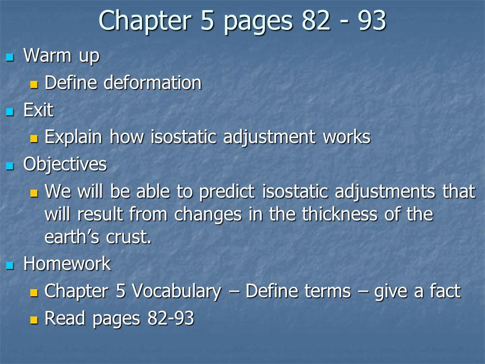 Vocabulary Chapter 5 Section 2 1.Folding 2. anticline 3.