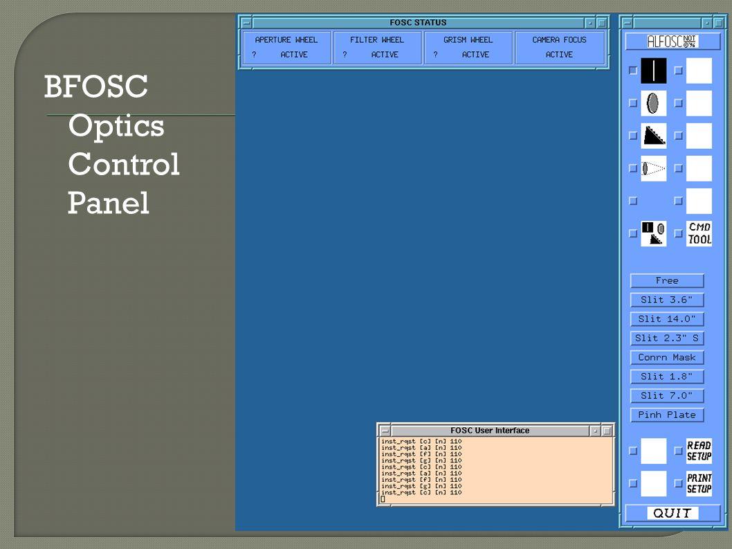 BFOSC Optics Control Panel