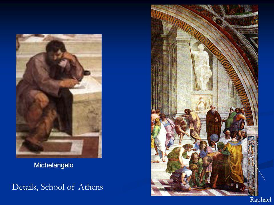 Michelangelo Details, School of Athens Raphael