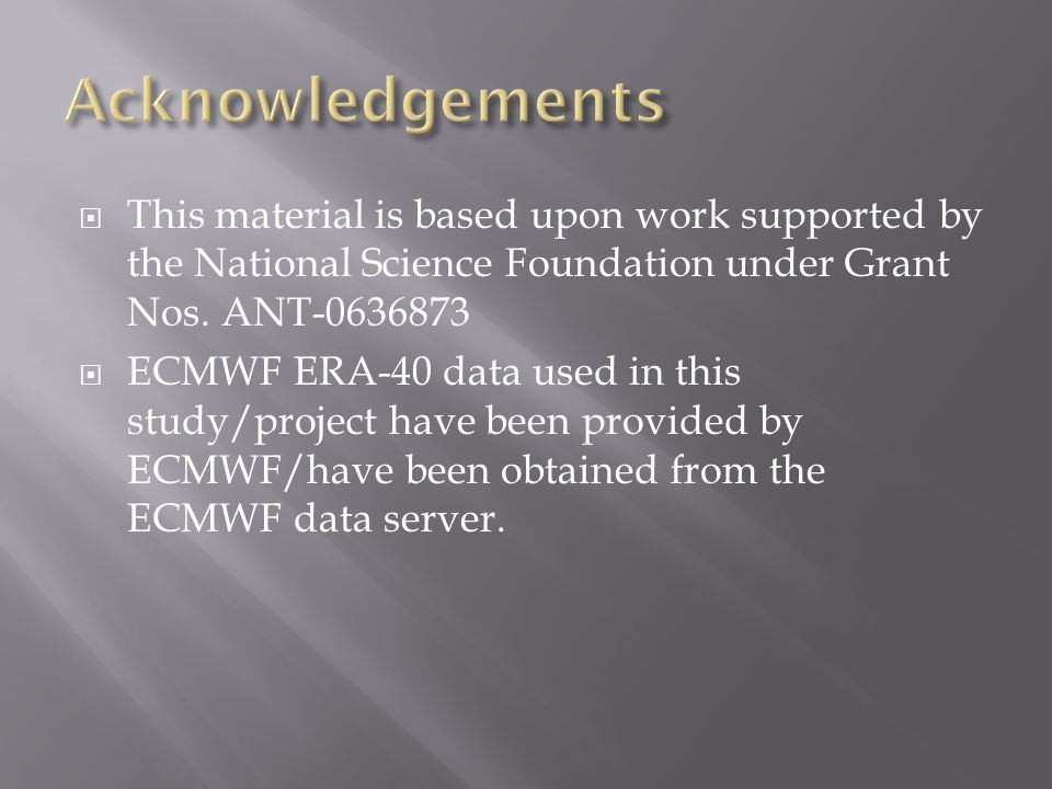  This material is based upon work supported by the National Science Foundation under Grant Nos.