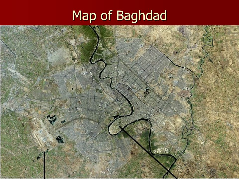 Map of Baghdad and surrounding areas