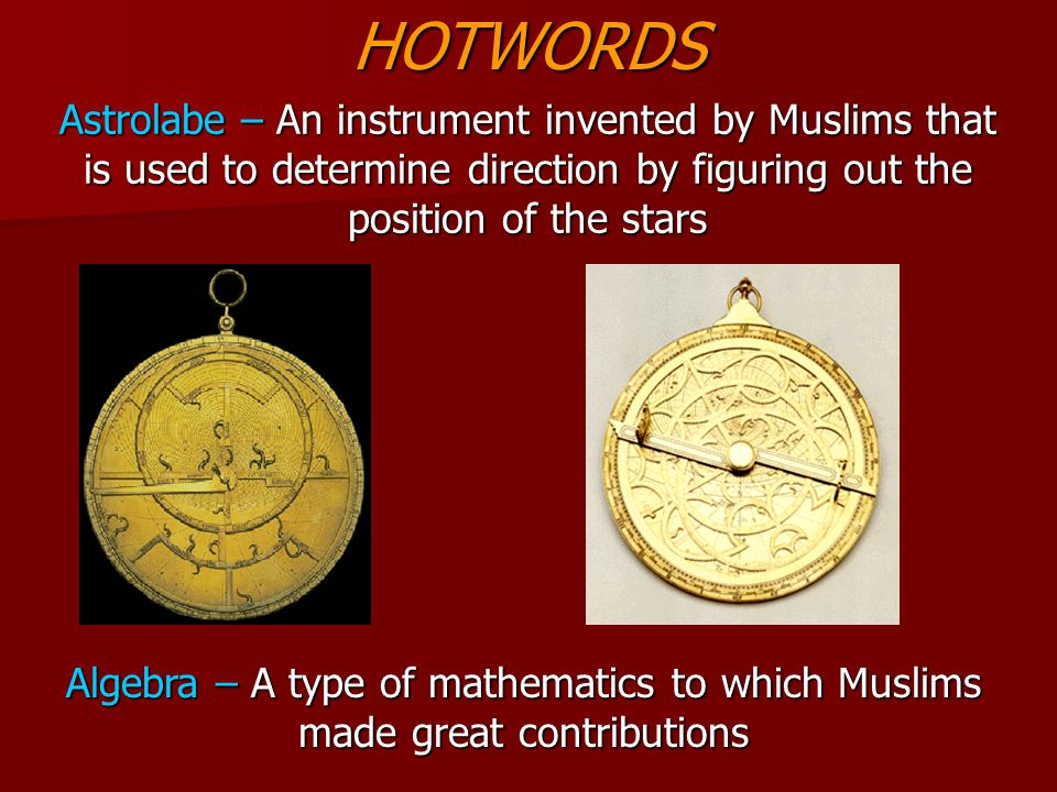 Math and Science Muslims created a simplified number system to that of the Romans which is commonly used in the world today.
