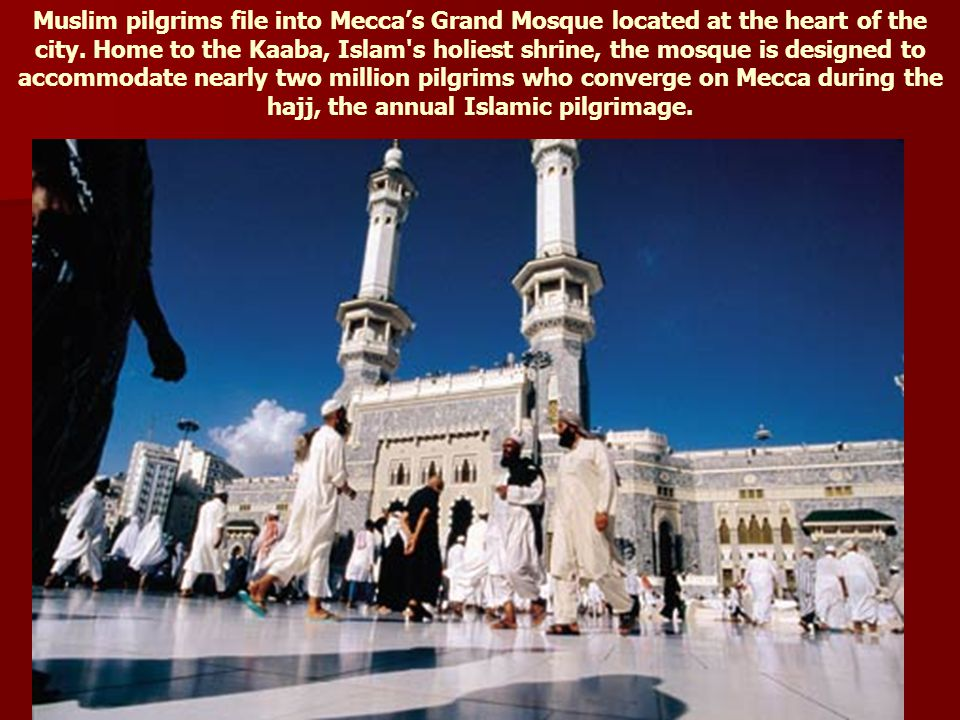 Muslim pilgrims on hajj gather in prayer at the Grand Mosque in Mecca.