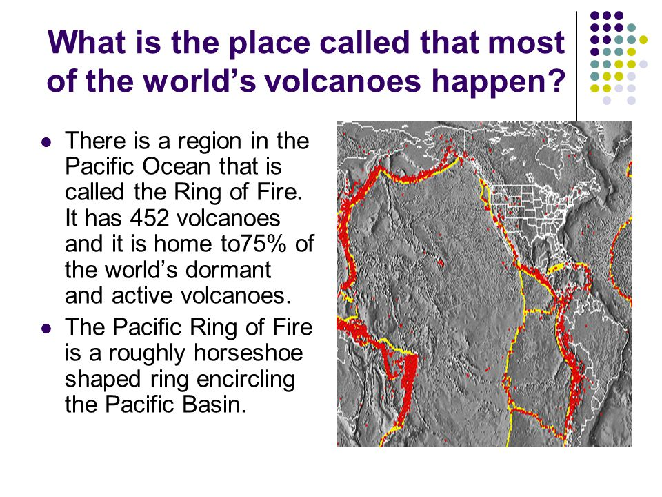 What is the place called that most of the world's volcanoes happen.