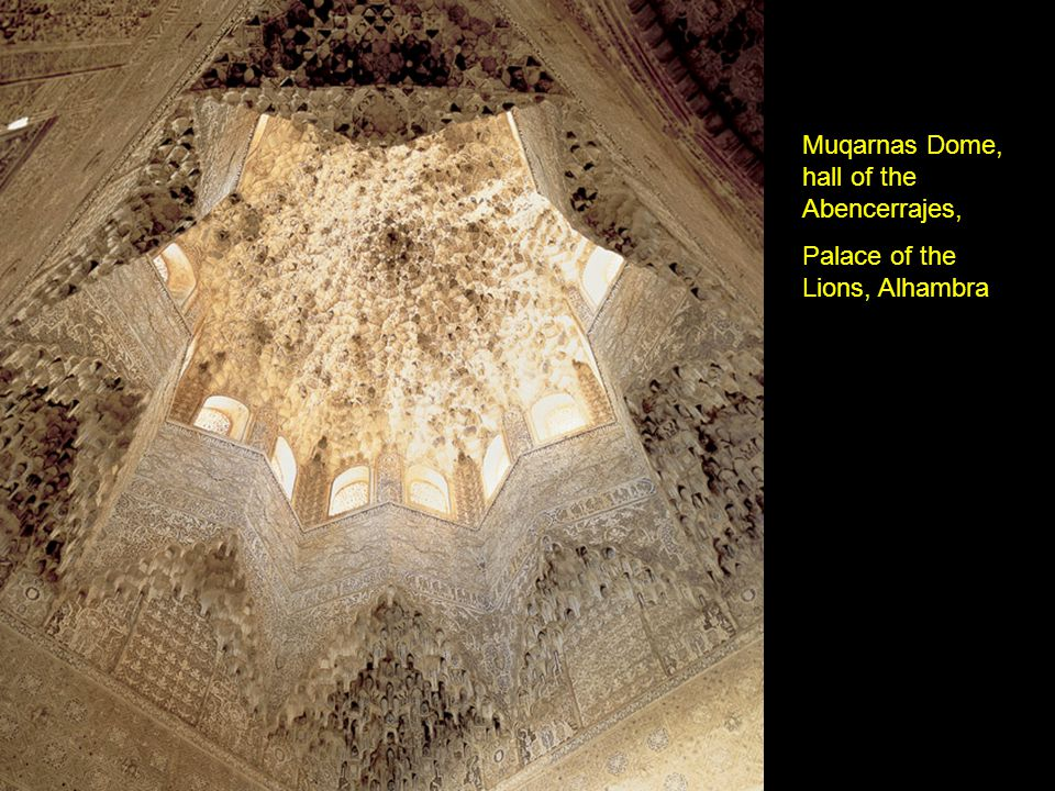 Muqarnas Dome, hall of the Abencerrajes, Palace of the Lions, Alhambra