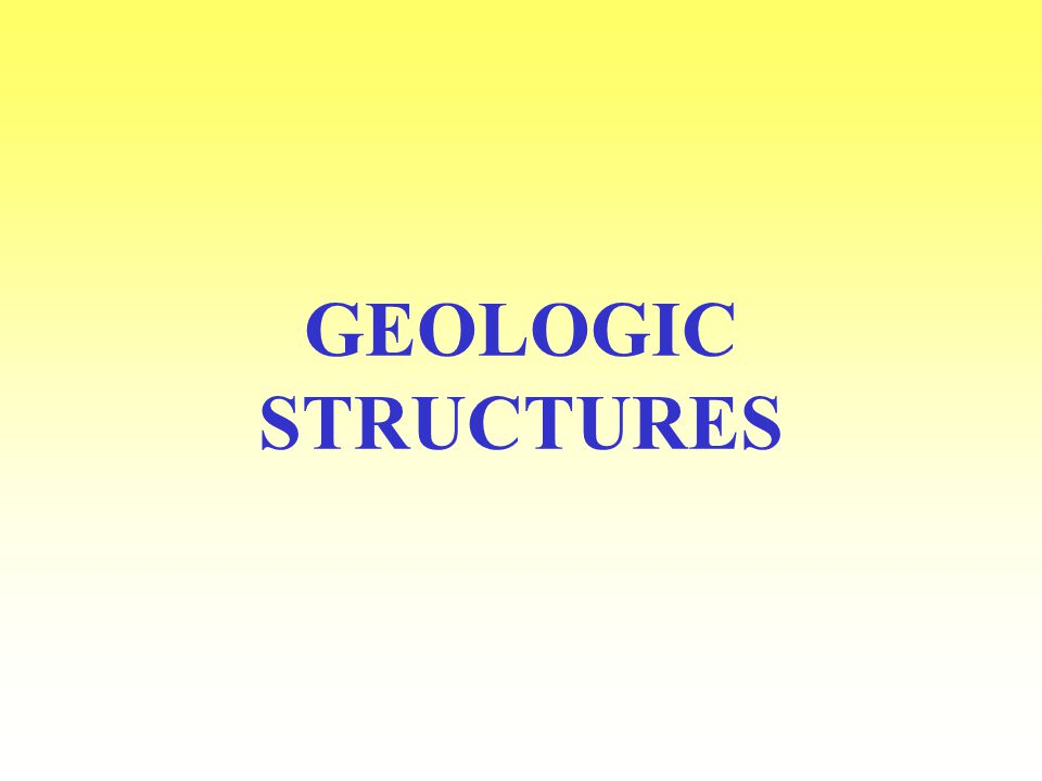 GEOLOGIC STRUCTURES Types of anticlines and synclines symmetrical fold sides between axis or plane are symmetrical--show a mirror image