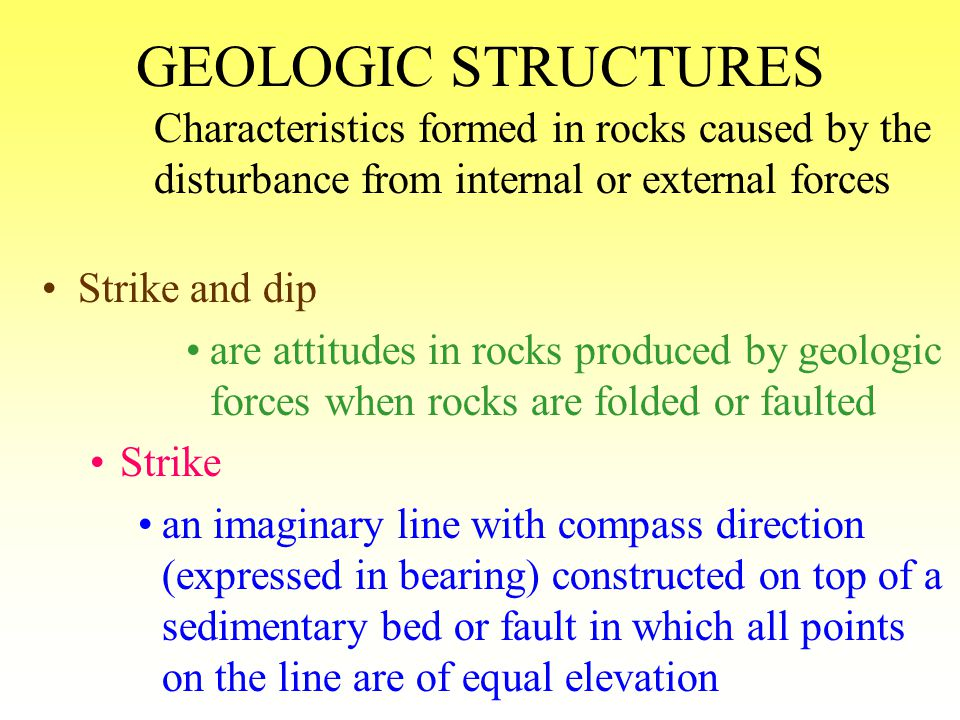 GEOLOGIC STRUCTURES asymmetrical fold no mirror image with respect to the axis or plane