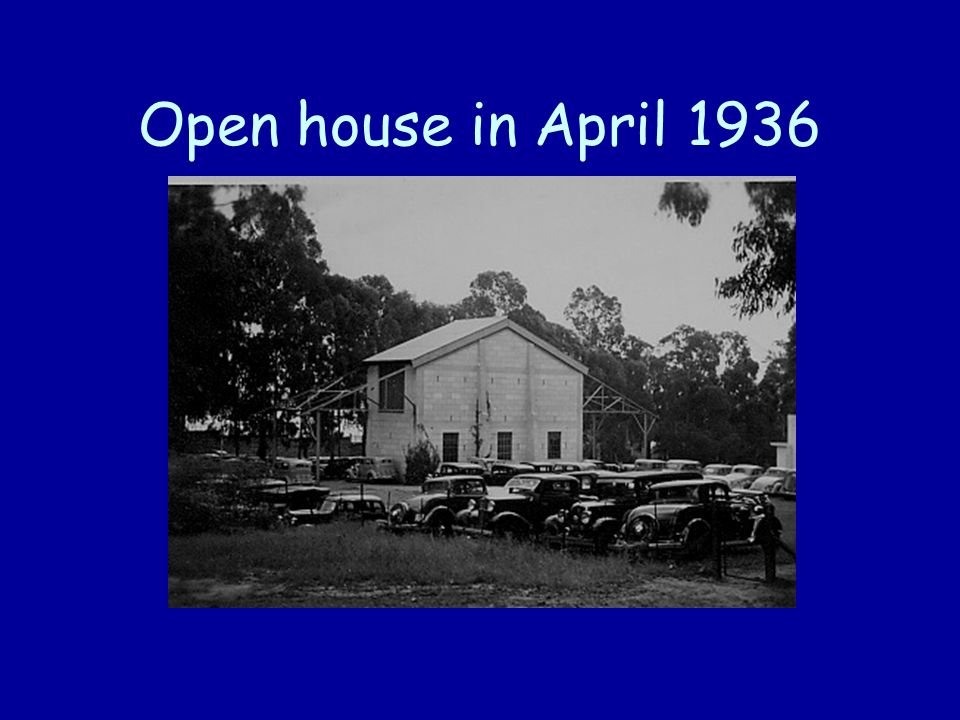 Open house in April 1936