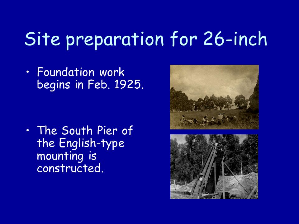 Site preparation for 26-inch Foundation work begins in Feb.