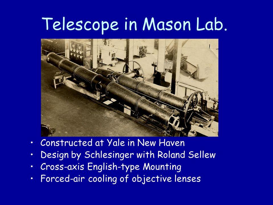 Telescope in Mason Lab.