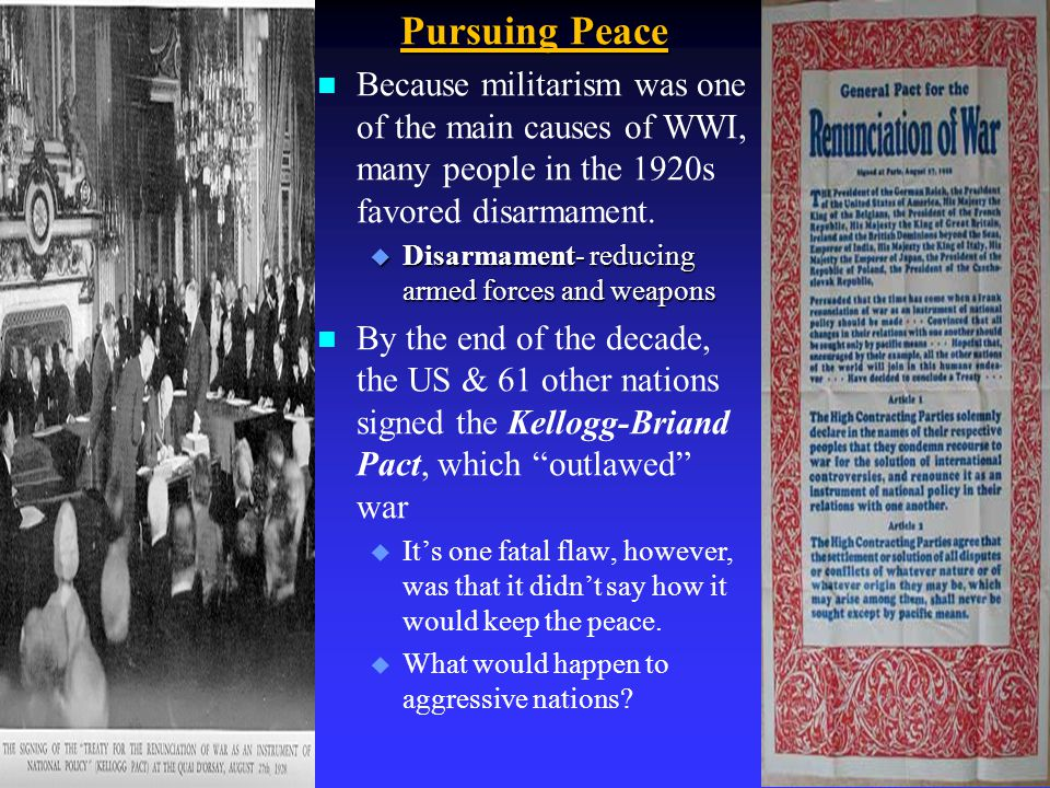 C. A Limited Role in World Affairs n After WWI, the U.S. was now the world's leading power, but most Americans wanted to stay out of European affairs
