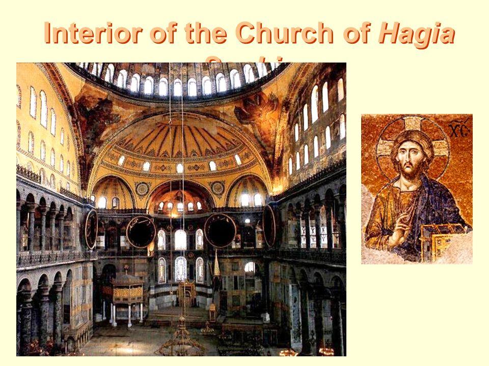Interior of the Church of Hagia Sophia