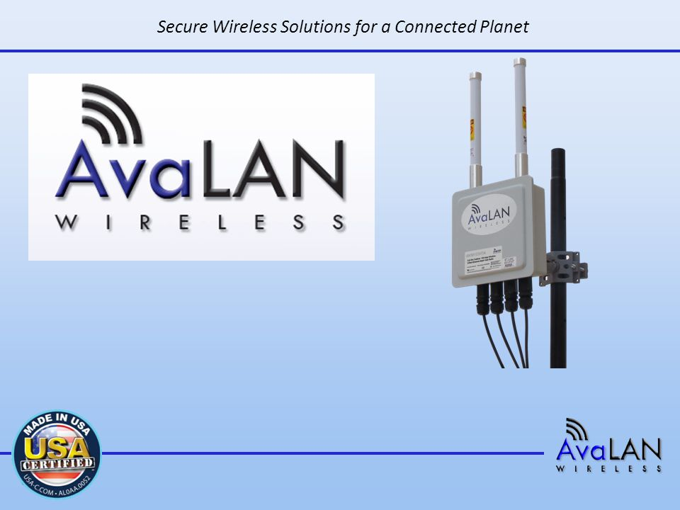 Secure Wireless Solutions for a Connected Planet