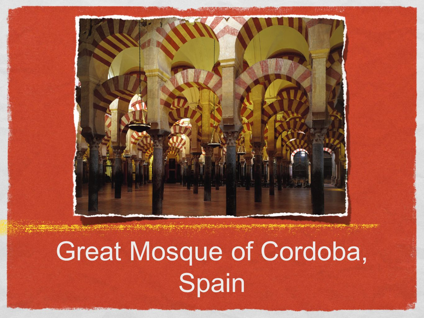 Cordoba Hypostyle Hall had 36 piers and 514 columns topped by double-tiered arches.