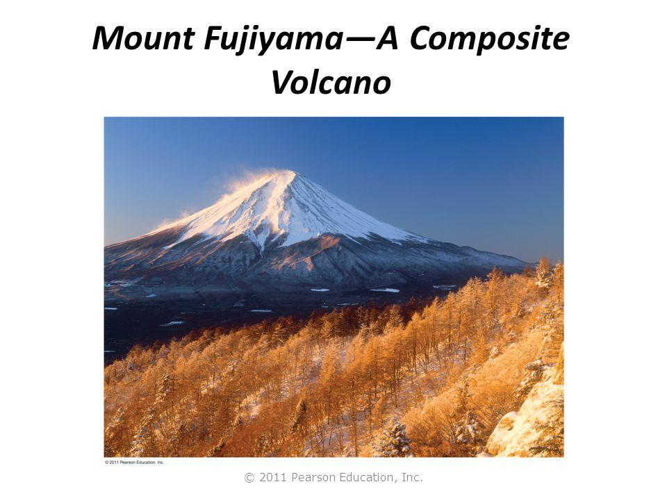 © 2011 Pearson Education, Inc. Mount Fujiyama—A Composite Volcano