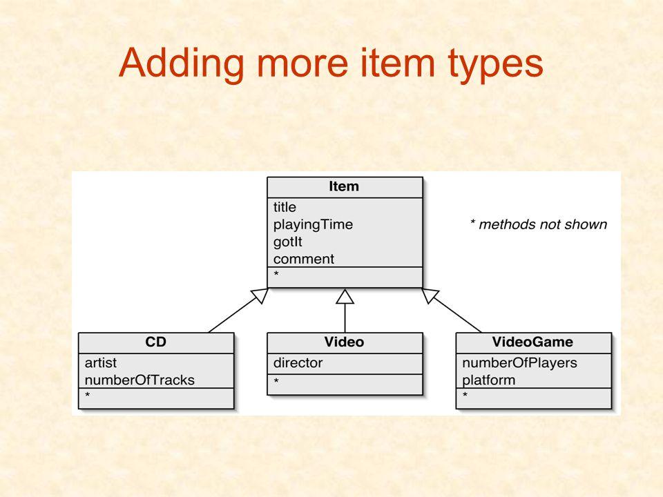 Adding more item types