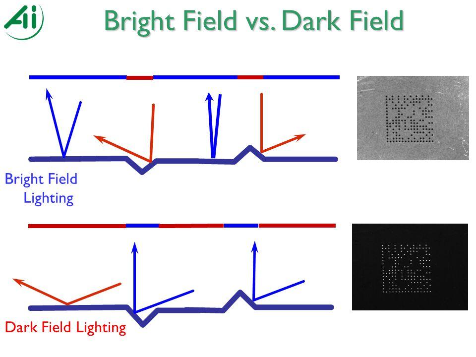 Bright Field Lighting Bright Field vs. Dark Field Dark Field Lighting