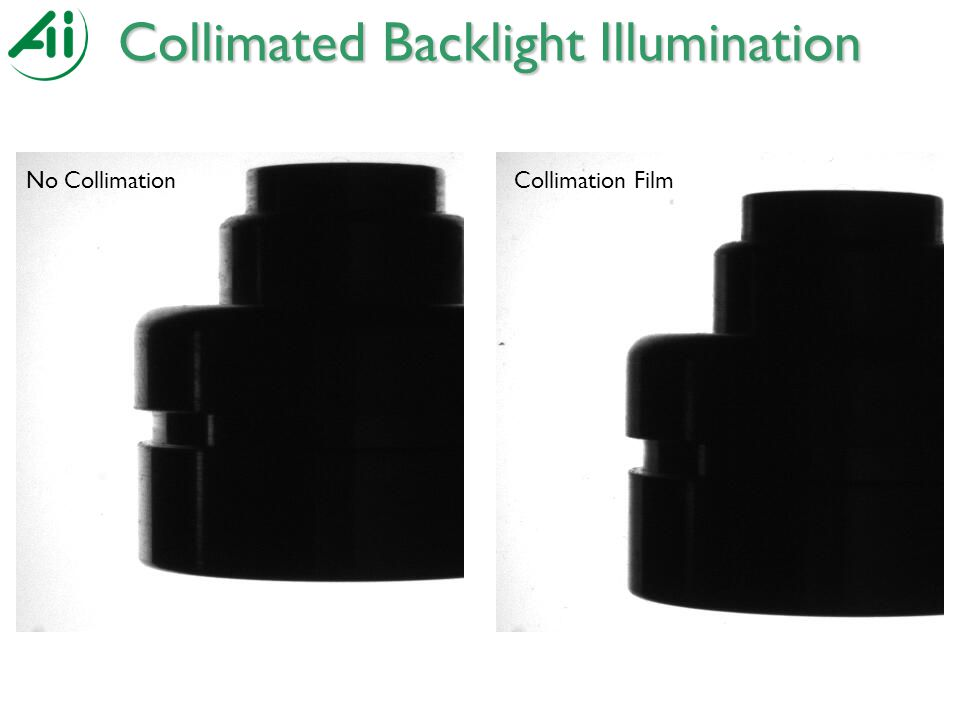 Collimated Backlight Illumination Collimation No CollimationCollimation Film