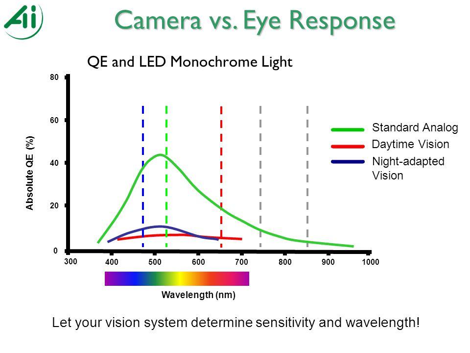 QE and LED Monochrome Light Camera vs.