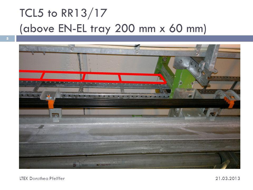 Volume of cables LTEX Dorothea Pfeiffer 6 21.03.2013 câbles entre AFP et USA15 (ou US15) par côté n°ItemTypeNumberØ (mm)From-ToNote cm2 1LV cablest.b.d.218 AFP-USA15 or US15 For Si.
