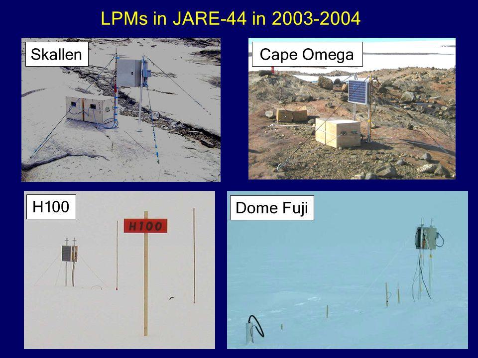 Cape OmegaSkallen H100 Dome Fuji LPMs in JARE-44 in 2003-2004