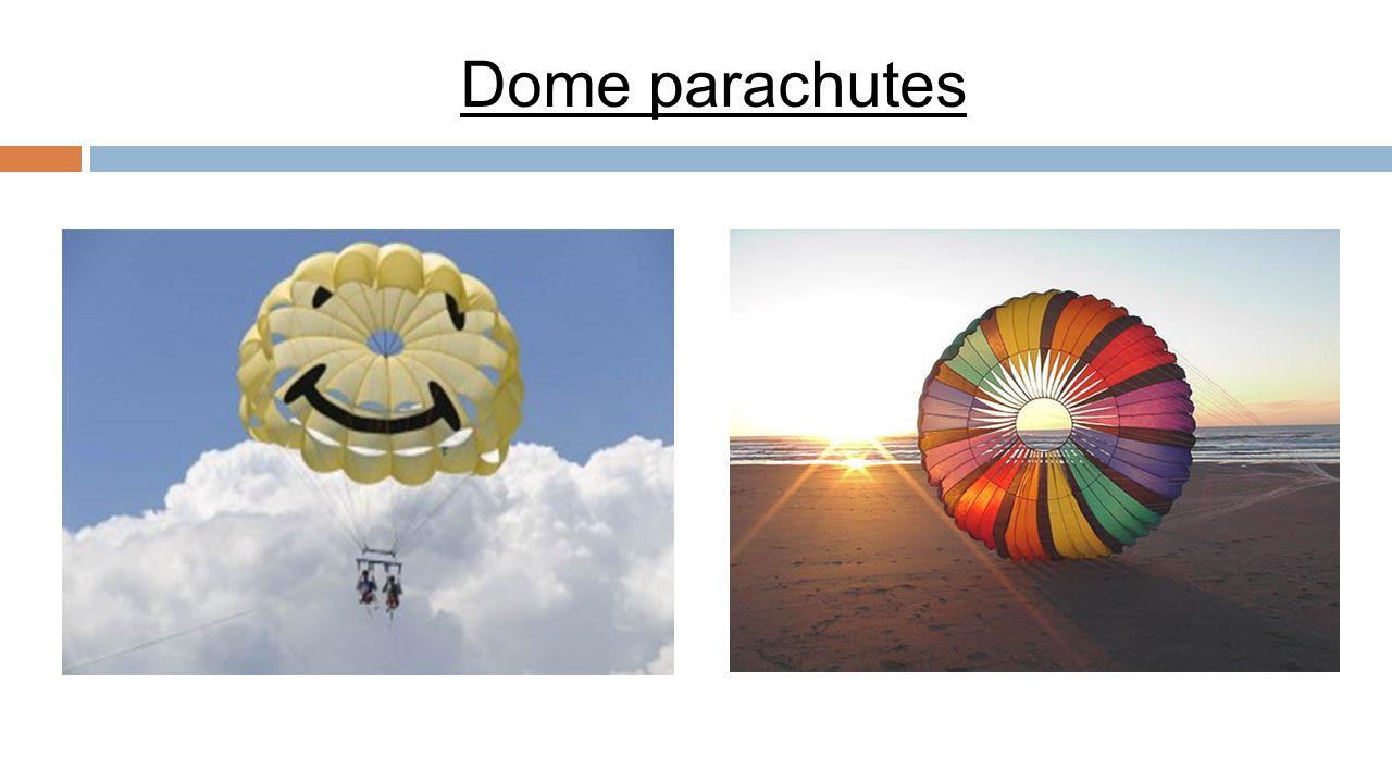 Dome parachutes