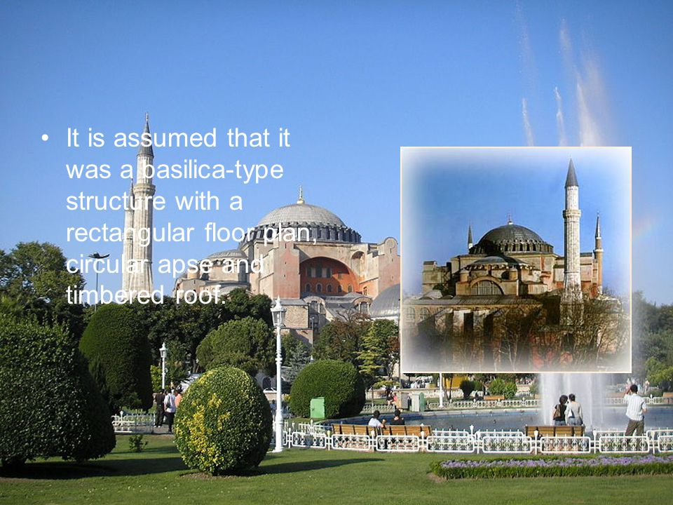 It is assumed that it was a basilica-type structure with a rectangular floor plan, circular apse and timbered roof.