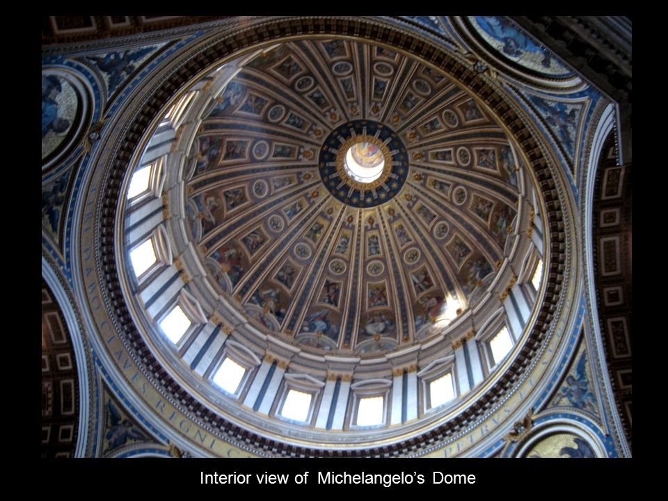 Interior view of Michelangelo's Dome