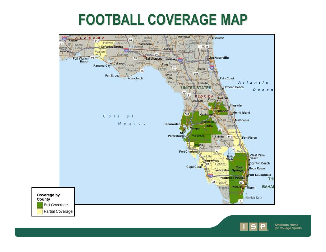 FOOTBALL COVERAGE MAP