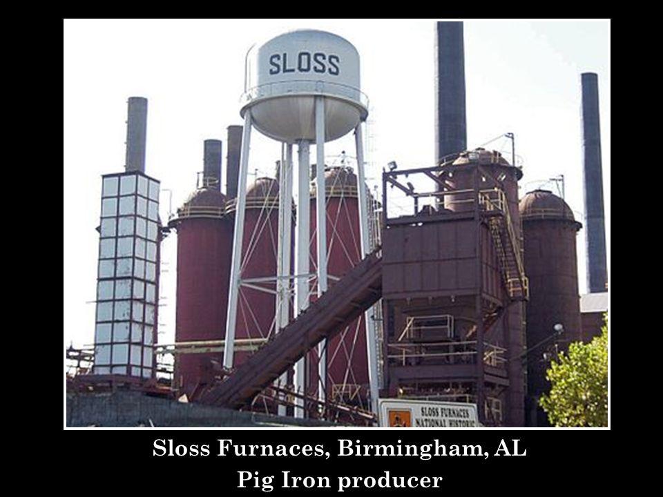 Sloss Furnaces, Birmingham, AL Pig Iron producer