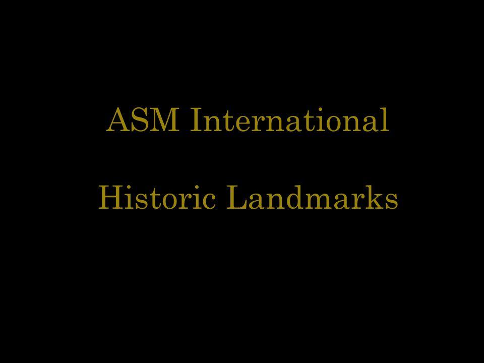 ASM International Historic Landmarks