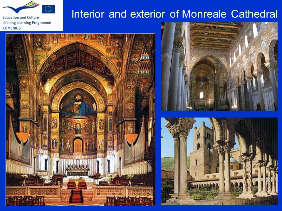 Interior and exterior of Monreale Cathedral