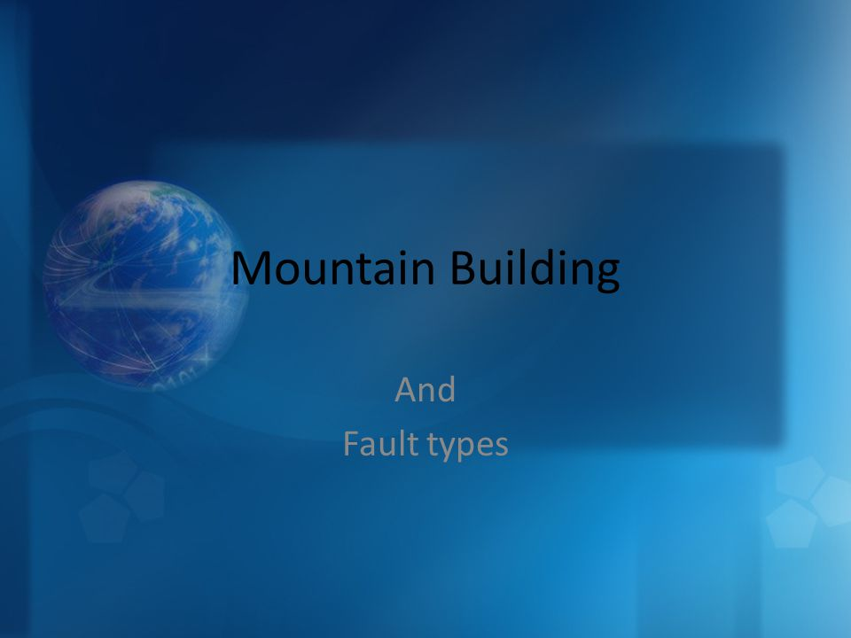 Mountain Building And Fault types