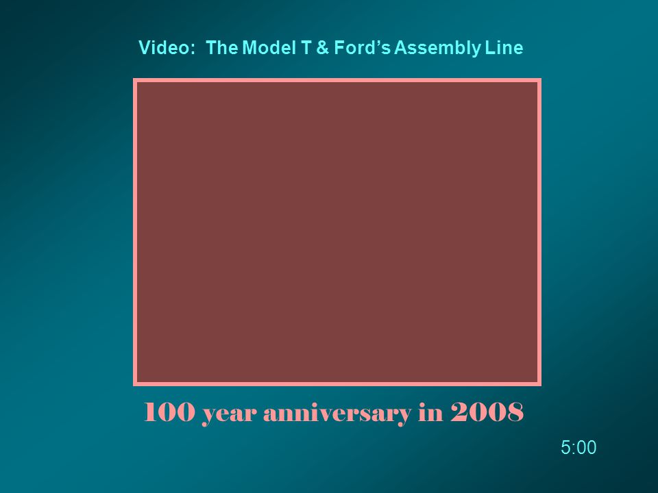 Video: The Model T & Ford's Assembly Line 100 year anniversary in 2008 5:00