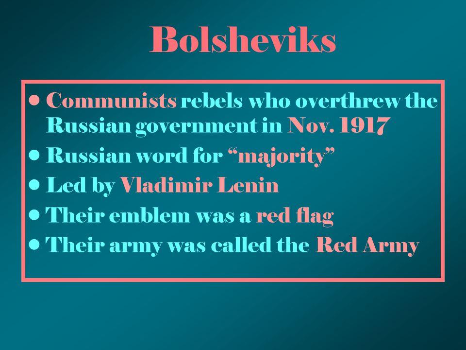 Vladimir Lenin –Leader of 1917 Bolshevik Revolution in Russia
