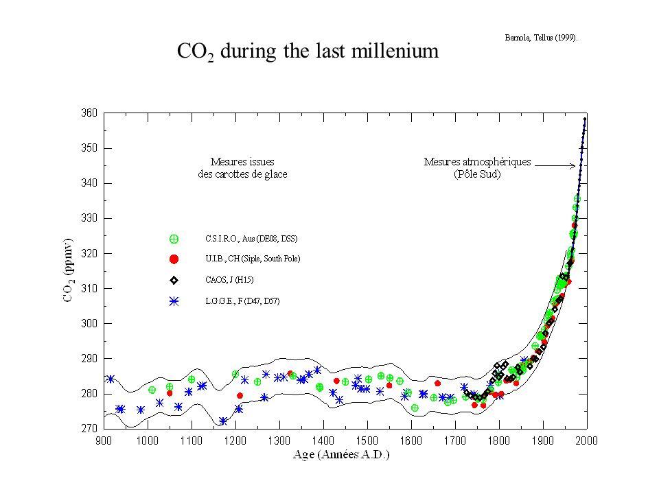 CO 2 during the last millenium