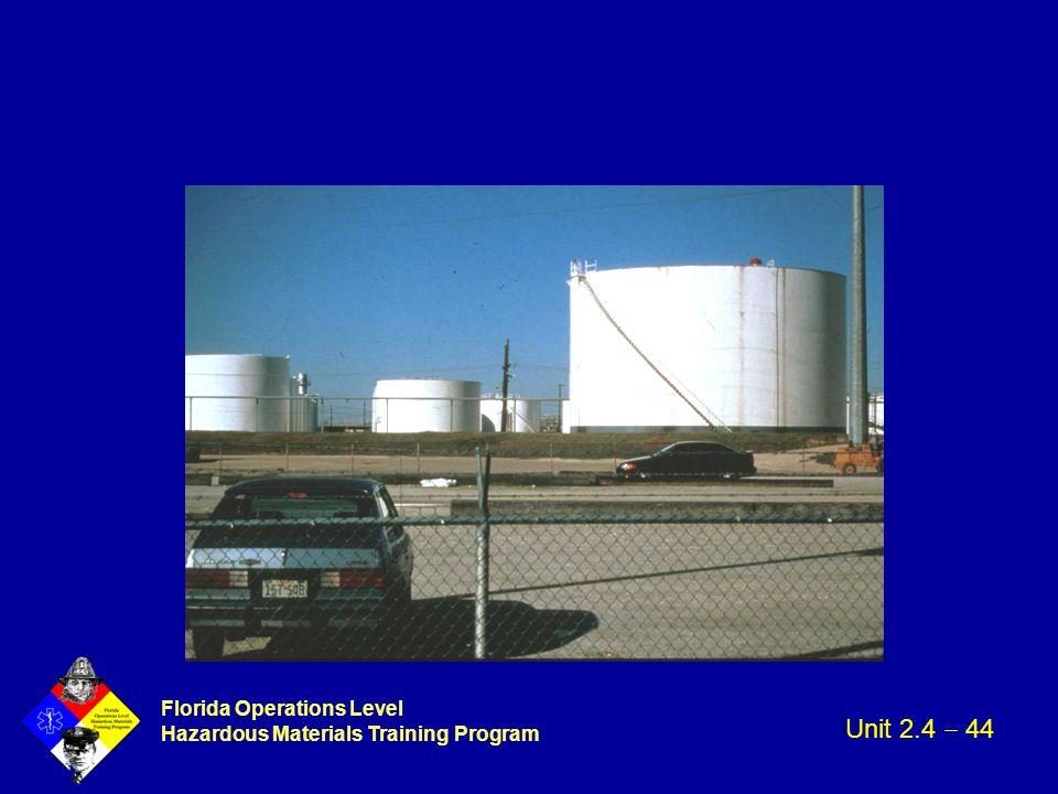 Florida Operations Level Hazardous Materials Training Program Unit 2.4  44