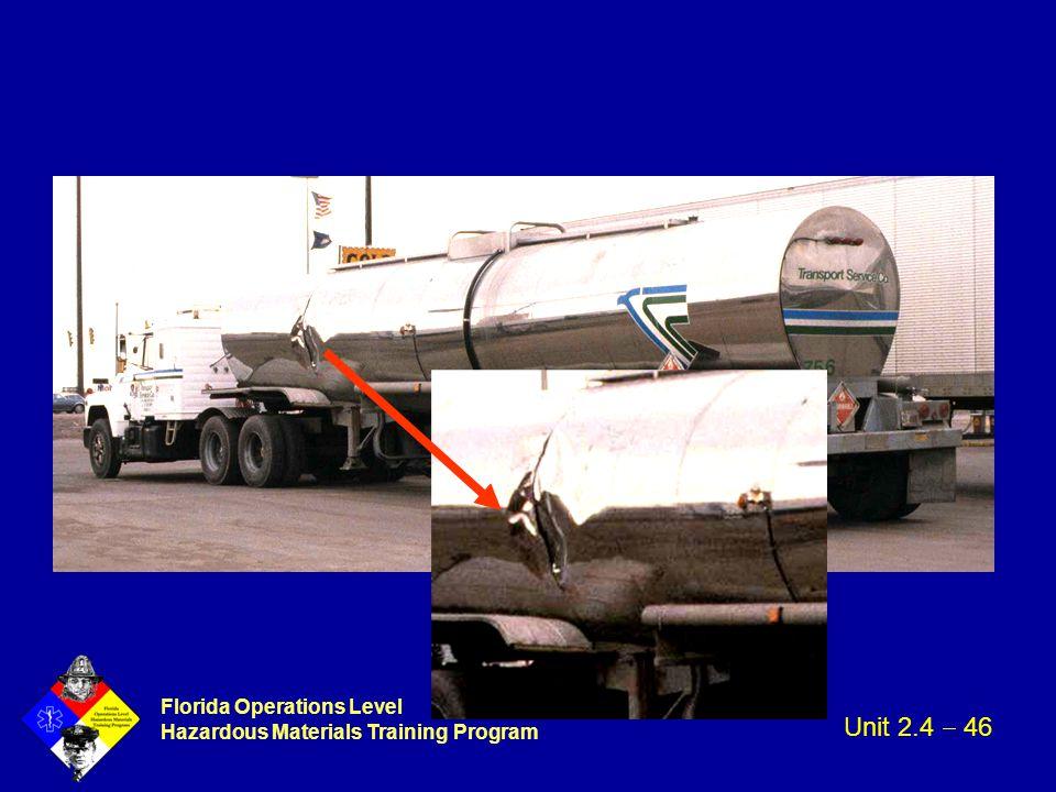 Florida Operations Level Hazardous Materials Training Program Unit 2.4  46