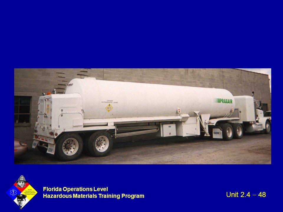 Florida Operations Level Hazardous Materials Training Program Unit 2.4  48