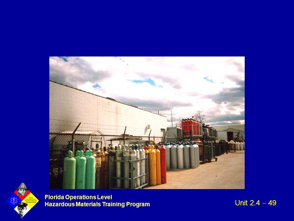 Florida Operations Level Hazardous Materials Training Program Unit 2.4  49
