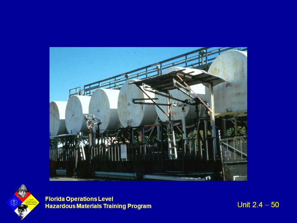 Florida Operations Level Hazardous Materials Training Program Unit 2.4  50