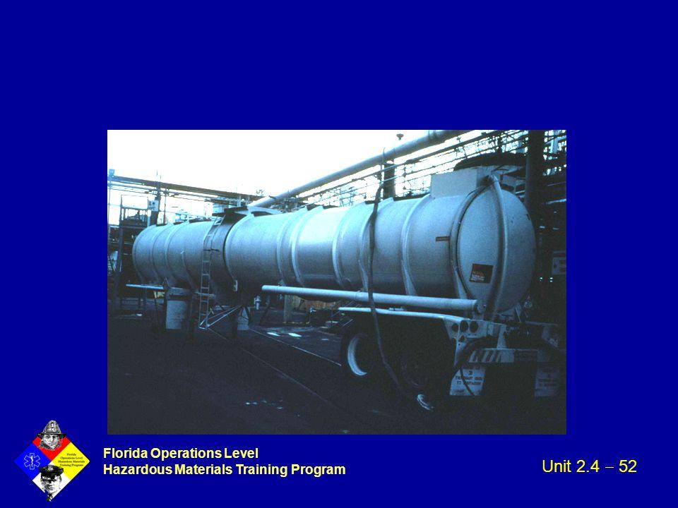 Florida Operations Level Hazardous Materials Training Program Unit 2.4  52