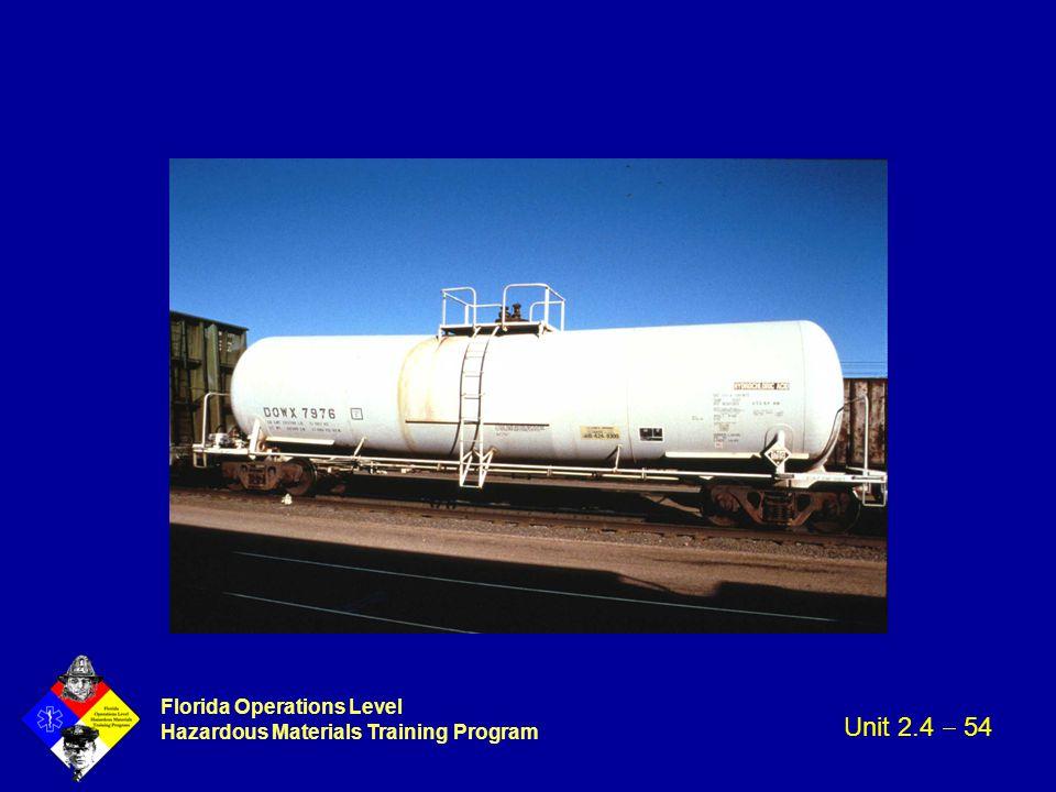 Florida Operations Level Hazardous Materials Training Program Unit 2.4  54